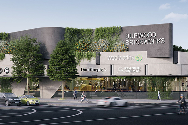 Burwood Brickworks shopping centre street view