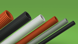 LSZH-FR HFT Corrugated conduit Orange Black Grey White