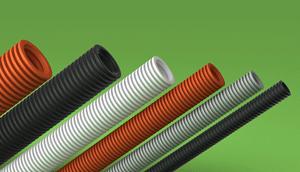 LSZH-FR HFT Corrugated conduit Orange Black Grey White